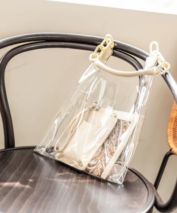 un dix cors(アンディコール) 【kiara(キアラ)】クリアポーチ付きトートバッグ