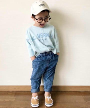 CIAOPANIC TYPY(チャオパニックティピー) 【KIDS】【OSORO】カレッジプリント ロングスリーブTee