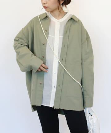 CAPRICIEUX LE'MAGE(カプリシュレマージュ) ビンテージ風シャツジャケット