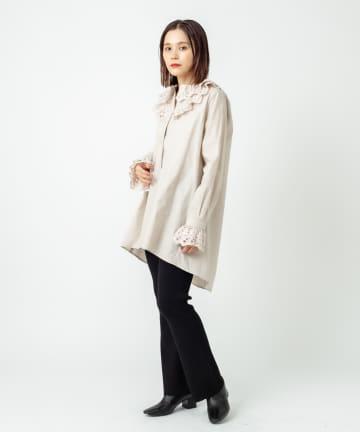 Omekashi(オメカシ) スカラップレースシャツ