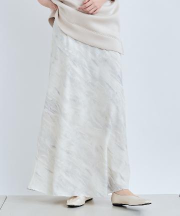 DOUDOU(ドゥドゥ) マーブルプリントスカート