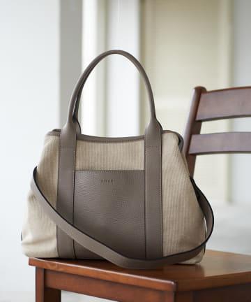 La boutique BonBon(ラブティックボンボン) 【RIPANI(リパーニ)】キャンバストートバッグ(L)