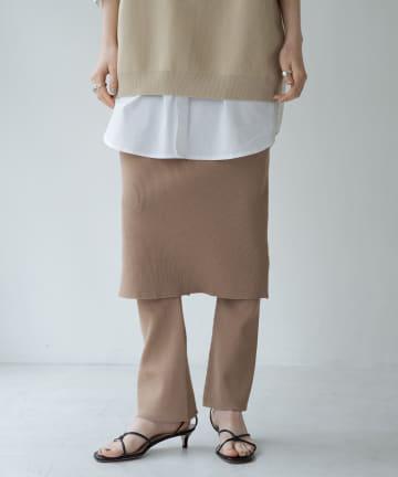 Loungedress(ラウンジドレス) 【WEB限定】ドッキングリブスカート