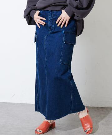 Discoat(ディスコート) USコットンデニムカーゴナロースカート