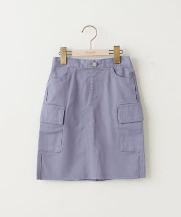 Discoat(ディスコート) 【キッズ】オソロUSコットンデニムカーゴナロースカート