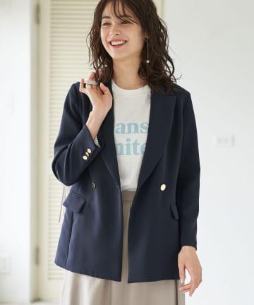 La boutique BonBon(ラブティックボンボン) 動画付き【名品】メタル釦ダブルジャケット