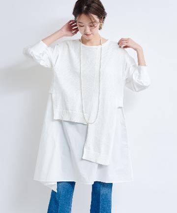 DOUDOU(ドゥドゥ) 【WEB限定】アシンメトリー ベスト×ミニドレス