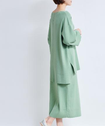 DOUDOU(ドゥドゥ) 【WEB限定】【セットアップ】Vネックチュニック×タイトスカート