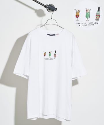 CPCM(シーピーシーエム) 【ユニセックスでおすすめ】3モチーフ刺繍T