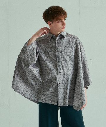 Lui's(ルイス) 【ETHOSENS×Lui's/エトセンス×ルイス】ポンチョシャツ