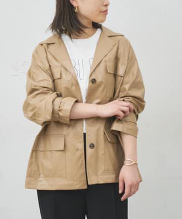 BONbazaar(ボンバザール) 《WEB限定》エコレザーシャツジャケット