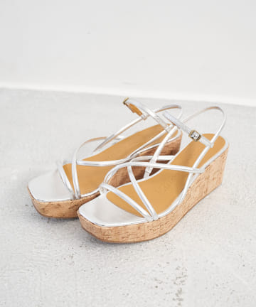 La boutique BonBon(ラブティックボンボン) 【FABIO RUSCONI】ストラップウェッジソールサンダル