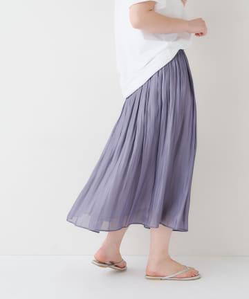 BONbazaar(ボンバザール) 《動画付き、定番、手洗い可》サテンギャザースカート
