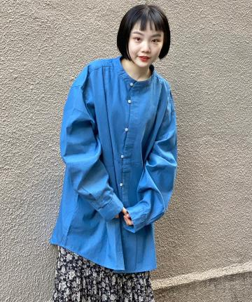 Kastane(カスタネ) 【WHIMSIC】DICKEY FRONT DENIM SHIRT