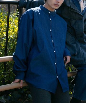Kastane(カスタネ) 【WHIMSIC】DICKEY FRONT DENIM SHIRT