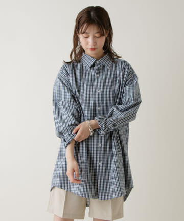 Kastane(カスタネ) 【WHIMSIC】TYPEWRITER GATHER SHIRT