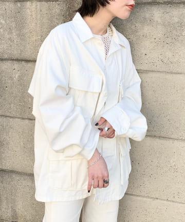 Kastane(カスタネ) 【WHIMSIC】COTTON TWILL FATIGUE JACKET