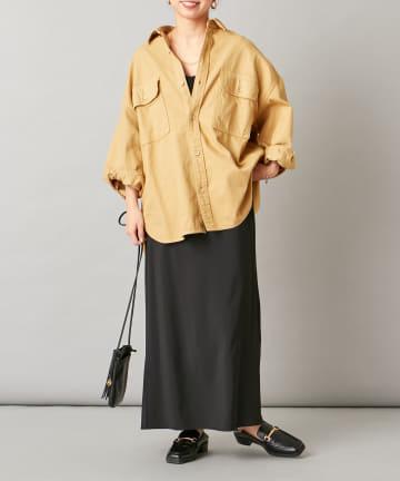 Omekashi(オメカシ) ソフトツイルビッグシャツ