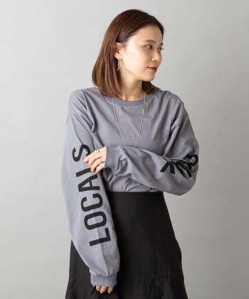 Omekashi(オメカシ) SLEEVE LOGO ロングTシャツ