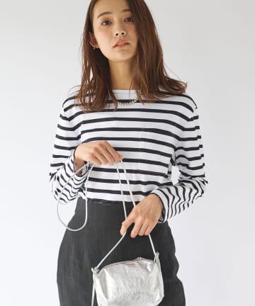 La boutique BonBon(ラブティックボンボン) 【Liyoca(リヨカ)】度詰め天竺ボーダーTシャツ