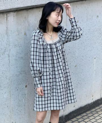 Kastane(カスタネ) 【GHOSPELL】Audition Check Mini Dress