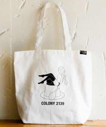 COLONY 2139(コロニー トゥーワンスリーナイン) カフェコラボトートバッグ