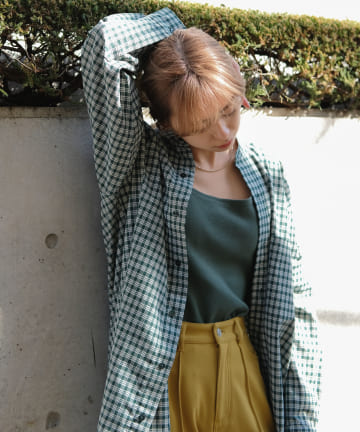 Kastane(カスタネ) 【Thank Mat'l.】リサイクルヤーンチェックオーバーシャツ