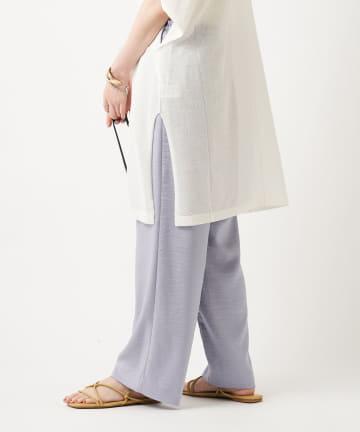 un dix cors(アンディコール) 動画付き【《体型を選ばない優秀パンツ》手洗い可】イージーワイドパンツ