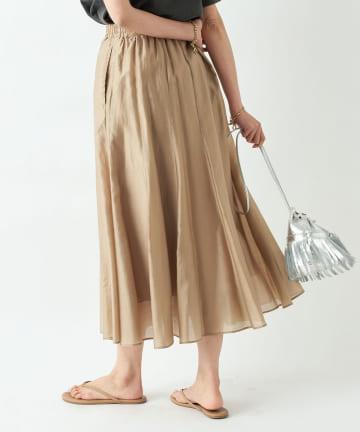RIVE DROITE(リヴドロワ) 【動画付き《フェミニンな印象の一枚》手洗い可】エアークロスギャザースカート