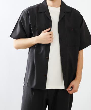 COLONY 2139(コロニー トゥーワンスリーナイン) ポリトロ両胸ポケットオープンカラー半袖シャツ(セットアップ可)