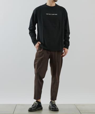 COLONY 2139(コロニー トゥーワンスリーナイン) USAコットンロゴ刺繍天竺長袖Tシャツ/ロンT(ユニセックス可)