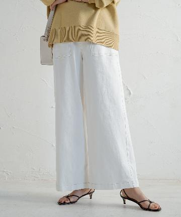 Loungedress(ラウンジドレス) カラーツイルワイドパンツ