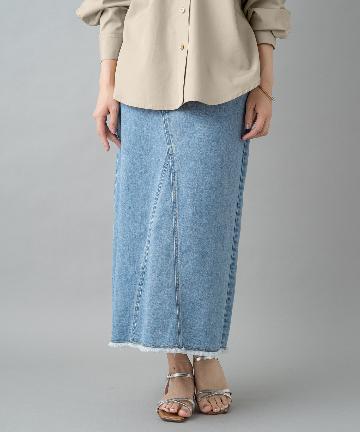 Loungedress(ラウンジドレス) カラーツイルロングスカート