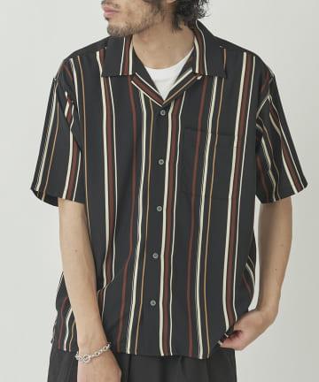 CPCM(シーピーシーエム) エステルストライプシャツ