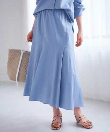 La boutique BonBon(ラブティックボンボン) 【手洗い可・セットアップ可】リヨセル混バックテールマーメイドスカート