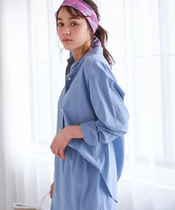 La boutique BonBon(ラブティックボンボン) 動画付き【手洗い可・セットアップ可】リヨセル混リラックスシャツ