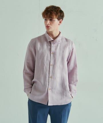 Lui's(ルイス) リネン混ハイネックシャツ