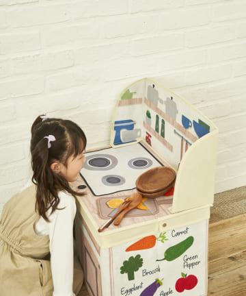 salut!(サリュ) 【ごっこ遊びに】KIDS収納ボックス(キッチン)