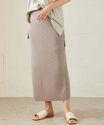 OUVRAGE CLASSE(ウヴラージュクラス) ニットロングタイトスカート