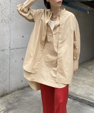 DOUDOU(ドゥドゥ) 【WEB限定】フロントヨークシャツ