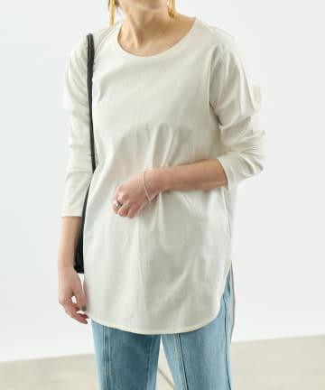 COLONY 2139(コロニー トゥーワンスリーナイン) 《抗菌・防臭》【SMART COLLECTION】抗菌スマート前後差長袖Tシャツ