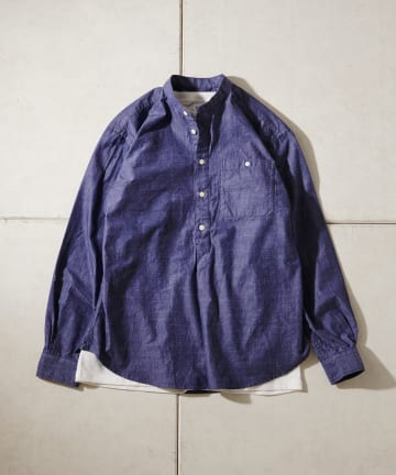CIAOPANIC TYPY(チャオパニックティピー) ツイルバンドカラーシャツ