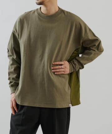 COLONY 2139(コロニー トゥーワンスリーナイン) 《抗菌・防臭》USAコットン切替フハク長袖Tシャツ/ロンT(ユニセックス可)