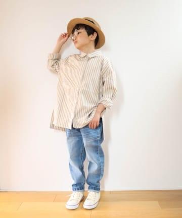 CIAOPANIC TYPY(チャオパニックティピー) 【KIDS】OSORO ブロードストライプシャツ
