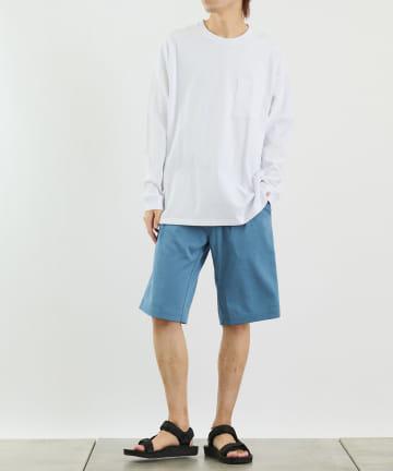 COLONY 2139(コロニー トゥーワンスリーナイン) 《抗菌・防臭》USAコットンポケット付長袖Tシャツ/ロンT(ユニセックス可)