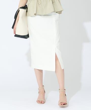 OUTLET premium(アウトレット プレミアム) 【手洗い可】レーヨンラミーストレッチナロースカート