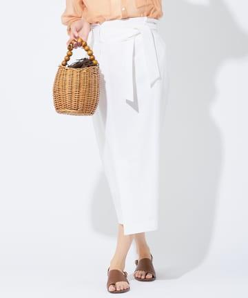 OUTLET premium(アウトレット プレミアム) 【手洗い可】ウェストベルトナロースカート