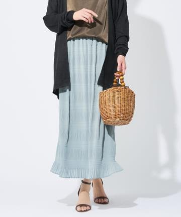 OUTLET premium(アウトレット プレミアム) 【軽やかで上品なロング丈】マジョリカプリーツスカート