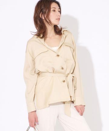 OUTLET premium(アウトレット プレミアム) テンセルツイルジャケットシャツ