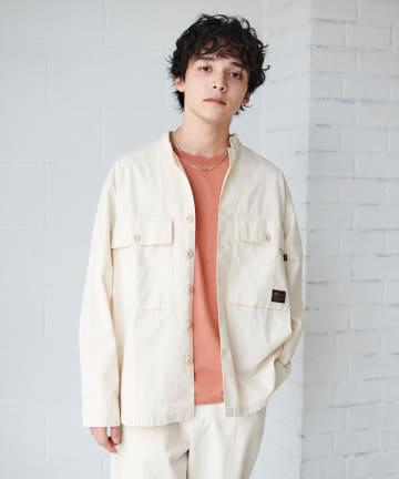 Discoat(ディスコート) 【ユニセックスで着用可能】ALPHA/アルファ別注ユーティリティシャツジャケット